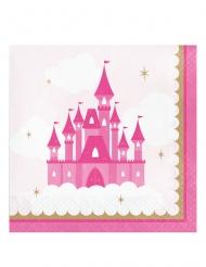 16 tovaglioli di carta castello rosa
