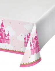 Tovaglia in plastica castello rosa