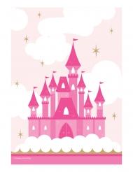 8 sacchetti regalo castello rosa