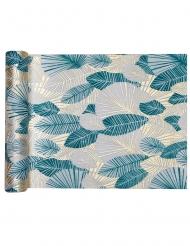 Runner da tavola TNT foglie tropicali blu