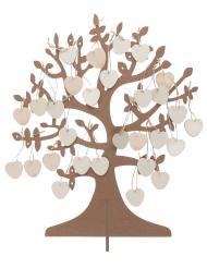 Albero dei desideri in legno con 50 cuori