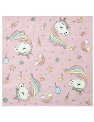 20 tovaglioli di carta rosa unicorno colorato
