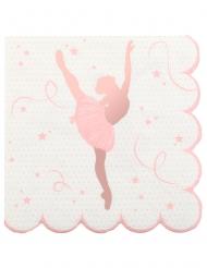 20 tovagliolini di carta ballerina oro rosa