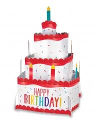 Centro tavola in cartone torta di compleanno