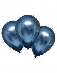 6 palloncini in lattice blu effetto satinato