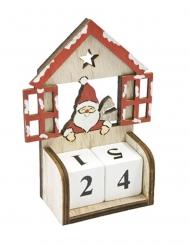 Calendario dell'Avvento in legno con cubi