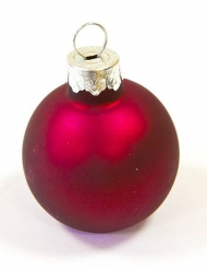 2 segnaposto palline di Natale rosse