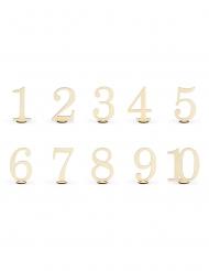10 numeri da tavola in legno