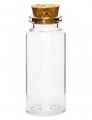 12 mini bottiglie in vetro con tappo in sughero