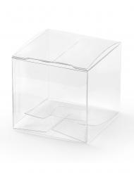 10 mini scatole trasparenti