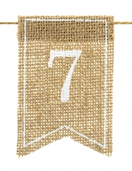 20 numeri per tavola in tela di iuta