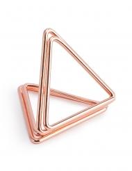 10 supporti segnaposto triangoli oro rosa