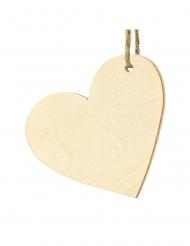 10 segnaposto in legno cuore