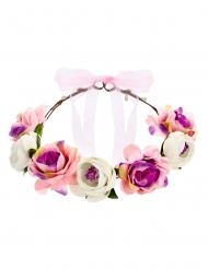 Coroncina di fiori rosa
