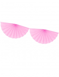 Ghirlanda di mezzi rosoni rosa
