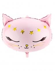 Palloncino in alluminio gattina rosa