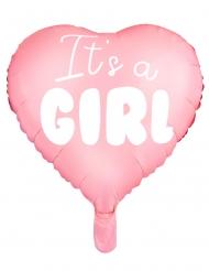 Palloncino alluminio cuore rosa It's a girl