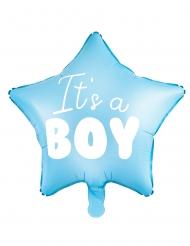 Palloncino alluminio stella blu It's a boy