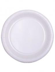 50 piattini biodegradabili bianchi 18 cm