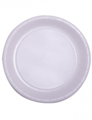 50 piatti biodegradabili bianchi 22 cm