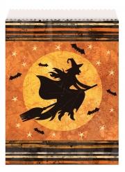8 sacchetti di carta strega Halloween