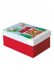 Mini scatola regalo Babbo Natale colorato