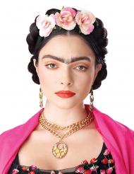 Parrucca trecce con fiori donna
