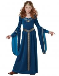 Costume principessa medivale in velluto per bambina