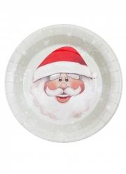 10 piatti in cartone Babbo Natale 23 cm