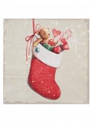 20 tovaglioli di carta calza di Babbo Natale