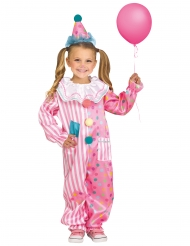 Costume da pagliaccio rosa per bambino