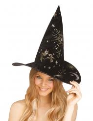Cappello strega con costellazioni donna
