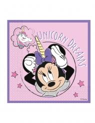 20 tovaglioli compostabili Minnie e l'unicorno™