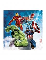 20 Tovaglioli in carta compostabile Avengers™ 33 x 33 cm