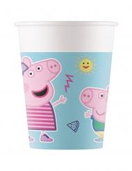 8 bicchieri in cartone compostabile Peppa Pig™