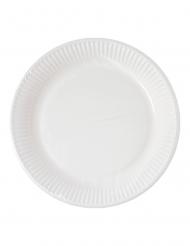 10 piattini bianchi compostabili 18 cm