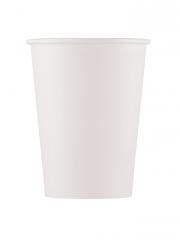 10 bicchieri in cartone compostabile bianco