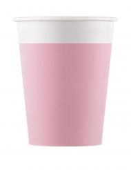 8 bicchieri in cartone compostabile rosa