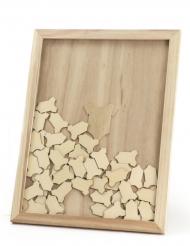 Libro per firme baby shower quadro in legno body