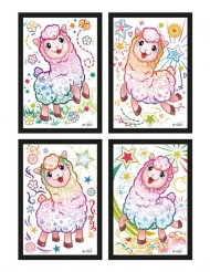 4 cartoline da grattare lama