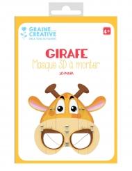Maschera 3D da montare in cartone giraffa