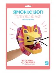 Marionetta mano in cartone leone