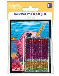 6 cartoline olografiche con mosaico narvalo