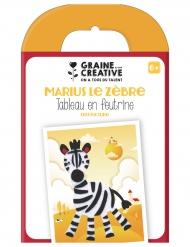 Kit per quadro in feltro zebra