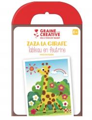 Kit per quadro in feltro giraffa