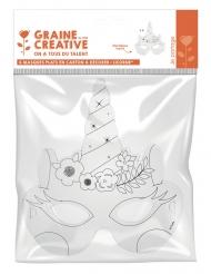 6 maschere in cartone da decorare unicorno