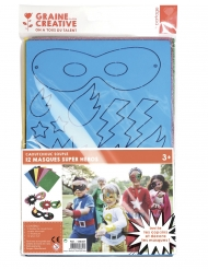 Kit 12 maschere di gomma super eroi