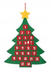 Calendario dell'Avvento albero in tessuto