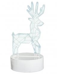 Decorazione luminosa cervo olografico