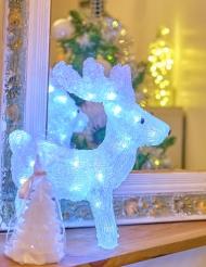 Renna bianca luminosa 30 cm